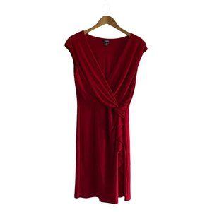 Chaps Women's Sleeveless Red Bodycon Midi Dress L